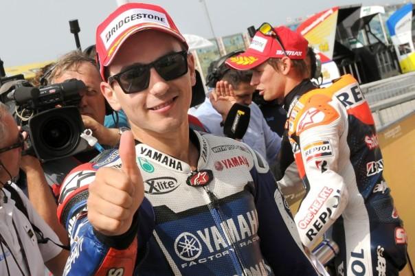 Il vincitore Jorge Lorenzo