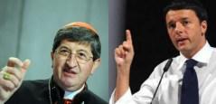 Il cardinale Giuseppe Betori e il sindaco Matteo Renzi