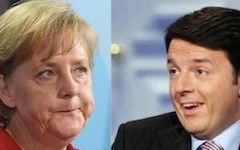 Firenze: Renzi e la Merkel stasera a cena in Palazzo Vecchio con ribollita e tagliata