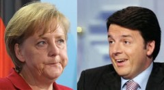 Angela Merkel e Matteo Renzi