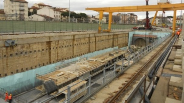 Uno dei cantieri Tav a Firenze