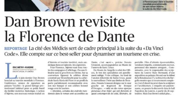 Uno degli articoli di Le Figaro su Firenze