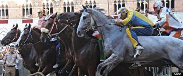 Il Palio di Siena, un momento della carriera
