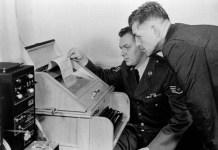 Una delle prime telescriventi tra Washington e Mosca (da Washington Post)
