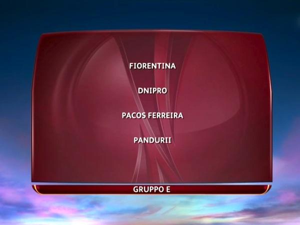 Il girone della Fiorentina in Europa League