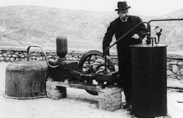 Immagine dal museo sulla geotermia di Larderello