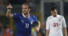 L'Italia batte la Bulgaria, gol di Gilardino