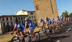 La nazionale azzurra di ciclismo in allenamento a Firenze