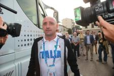 La visita della Nazionale di ciclismo all'ex ct Martini