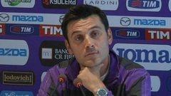 Vincenzo Montella si è anche un po' innervosito parlando del rientro di Gomez