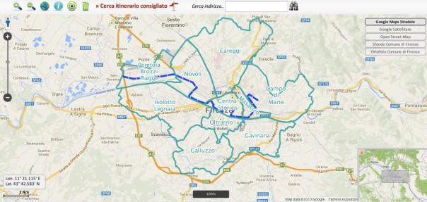 La mappa interattiva per programmare gli spostamenti durante i mondiali di ciclismo