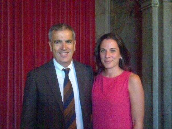 Antonella Mansi con il sindaco di Siena Bruno Valentini