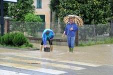 Alcune strade allagate in Toscana