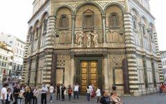 Laser sul Battistero di Firenze, scanning sulle superfici