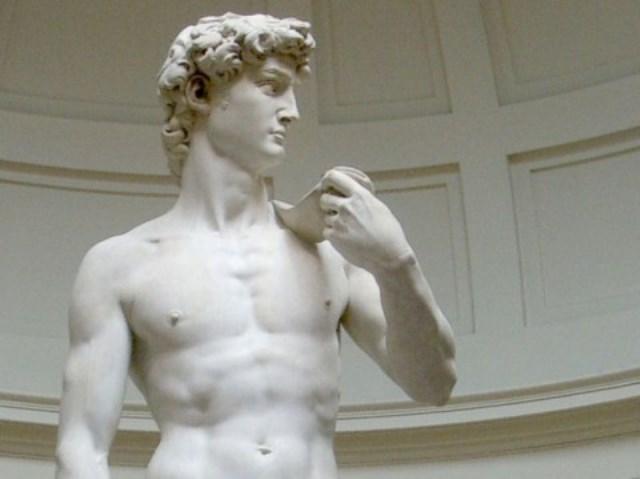 Il David di Michelangelo nella Gallerria dell'Accademia di Firenze