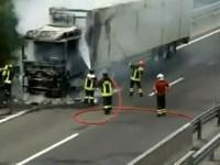 Incidente in A1 tir prende fuoco