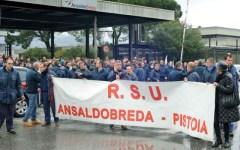 Ansaldobreda, presidio dei lavoratori a Pistoia