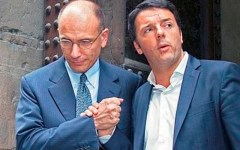 Matteo Renzi incontra Enrico Letta a Palazzo Chigi