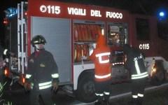 Incendiato nella notte un cantiere alle porte di Firenze