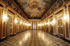 Una delle eleganti sale di Palazzo Medici Riccardi