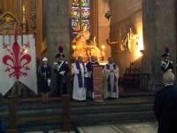 La celebrazione in Santa Croce