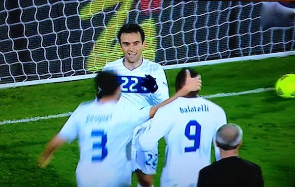 L'esultanza di Rossi dopo il gol con la Nigeria