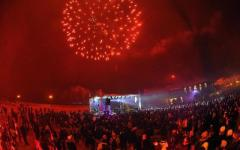 Notte di Capodanno a Livorno, fuochi d'artificio e musica