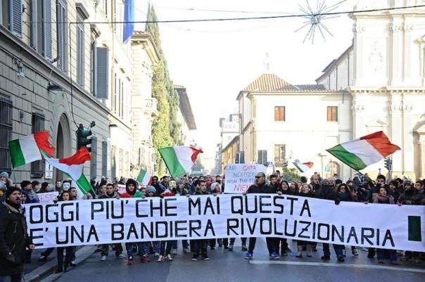 Il corteo del «forconi» a Firenze