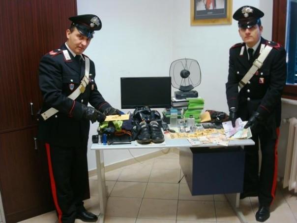 La refurtiva recuperata dai carabinieri di San Miniato