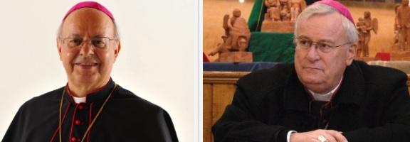 Monsignor Lorenzo Baldisseri e monsignbor Gualtiero Bassetti