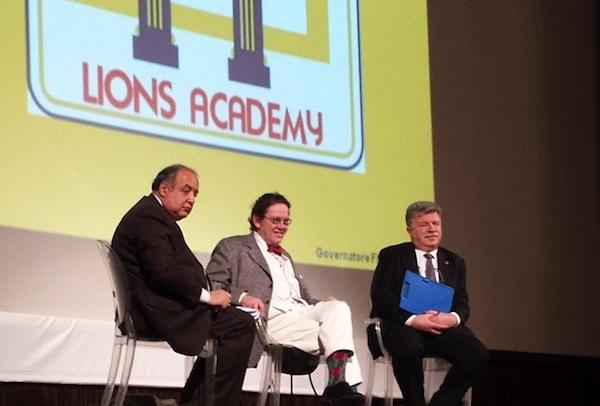 """Un momento del """"Lions Academy """" a Firenze: da sin. Gatta, Daverio, Smalzi"""