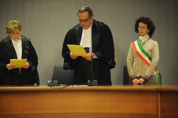 Foto Riccardo Sanesi/LaPresseFirenze 30 01 2014 Palazzo di Giustizia processo bis del omicidio di Merideth, giornata della sentenza.Nella foto: