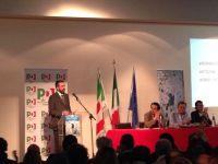 L'intervento di Dario Parrini davanti all'assemblea del Pd che lo ha proclamato segretario regionale