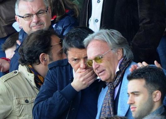 Matteo Renzi e Diego Della Valle durante un incontro allo stadio