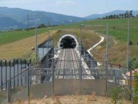 Un tunnel ferroviario Tav nel Mugello