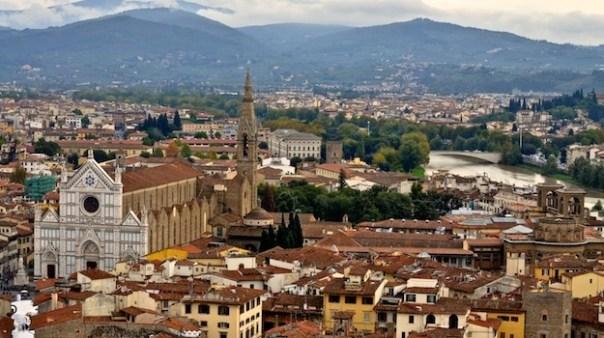 Firenze panorama Santa Croce