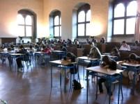 Un momento delle Olimpiadi di italiano a Palazzo Vecchio in una delle passate edizioni
