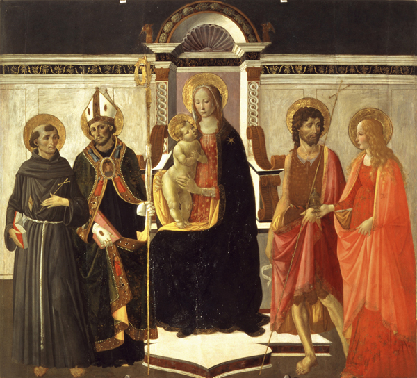 Gherardo di Giovanni, Sacra conversazione, tempera su tavola, cm  194 x 177