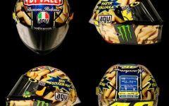 MotoGp al Mugello, Pedrosa il più veloce nelle prove. E Valentino Rossi mostra il casco con la pasta