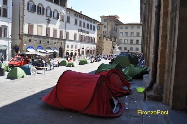 Piazza San Lorenzo occupata