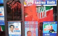 Firenze, colpite con le scritte anche sedi di Forza Italia e M5S