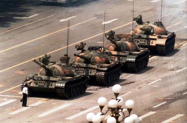 Eroe sconosciuto, Piazza Tienanmen 1989