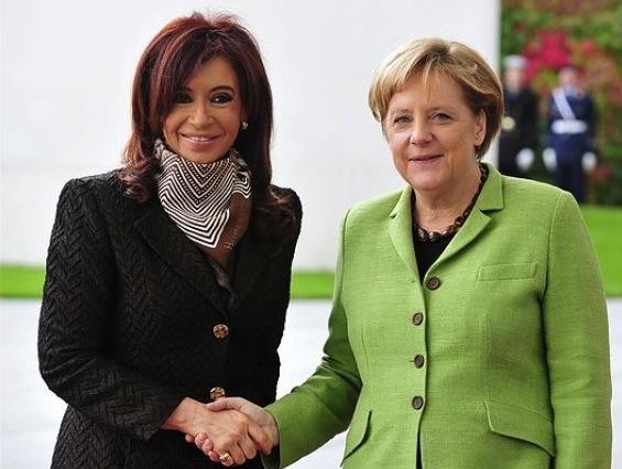 Cristina Fernandez Kirchner e Angela Merkel, presidenti di Argentina e Germania