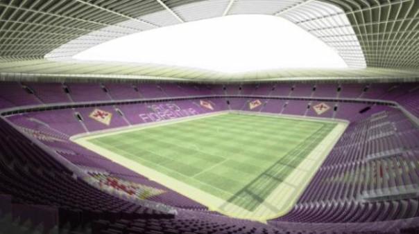 Il nuovo stadio, secondo il progetto della Fiorentina2