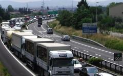 Un tratto dell'A1 a Calenzano