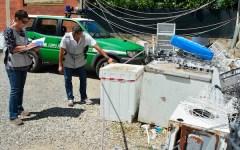 Borgo San Lorenzo, scoperta maxi discarica abusiva di lavatrici e frigo