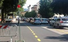 Firenze, Viale Morgagni: ripristinata la circolazione dopo la riparazione del tubo di publiacqua