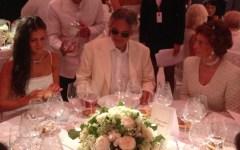 Forte dei Marmi, Andrea Bocelli a cena con Sofia Loren: «Sei l'Italia nel mondo»