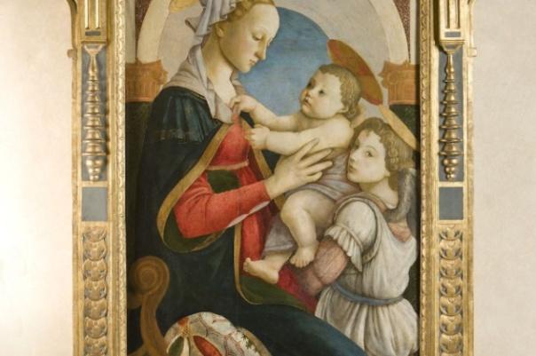 La «Madonna col Bambino e un angelo» di Botticelli