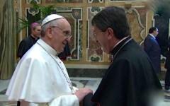 Firenze, Papa Francesco in città l'11 novembre 2015. Poco prima del vertice Nato sul Mediterraneo